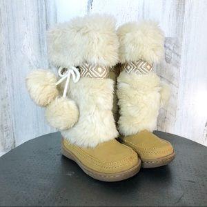 Baby Gap size 5 Faux Fur Boots